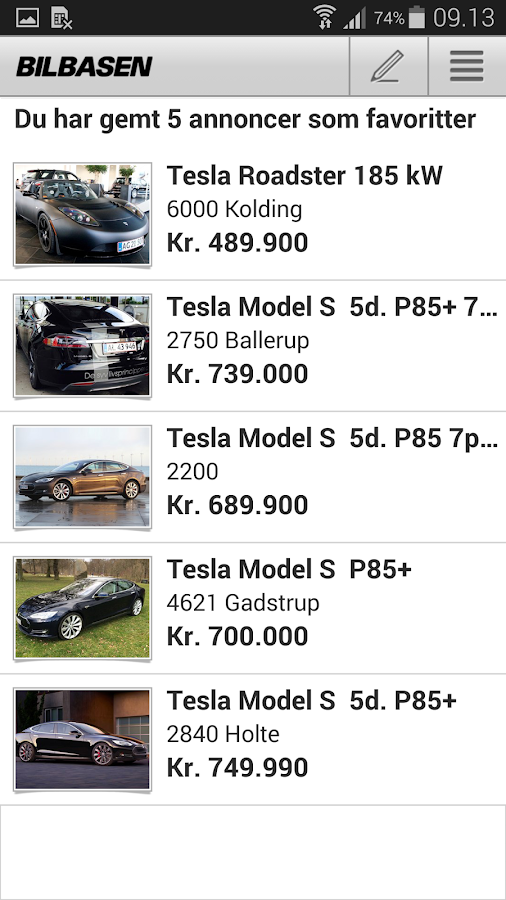 BilBasen – køb brugte biler - screenshot