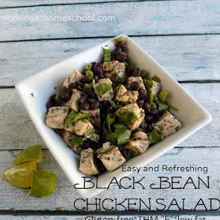"Easy GF Summertime Black Bean Chicken Salad - THM ""E""."