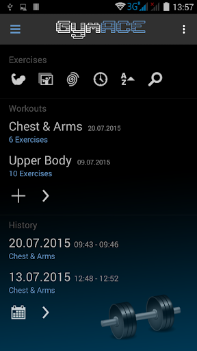 Gym ACE Pro: Workout Tracker & Body Log Fitness app screenshot for Android
