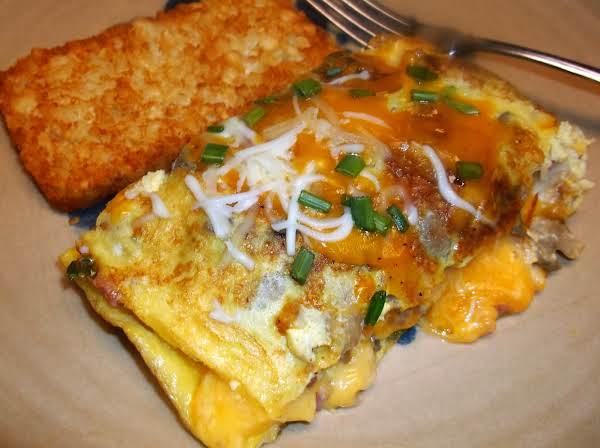 Mega-meaty Triple-cheesy Omelette Recipe