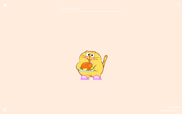 Funny Chubby Cat New Tab Theme