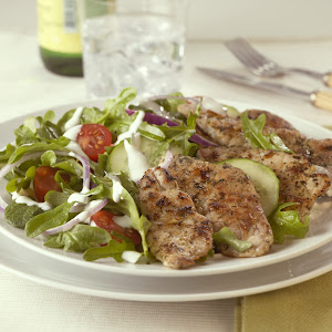 Greek Salad with Pork