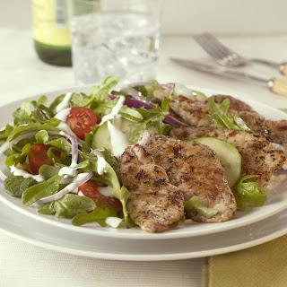 Greek Salad with Pork.