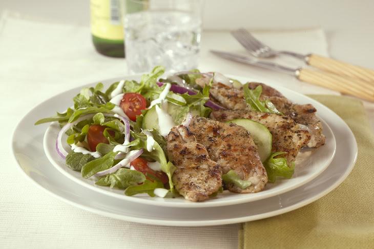 Greek Salad with Pork Recipe