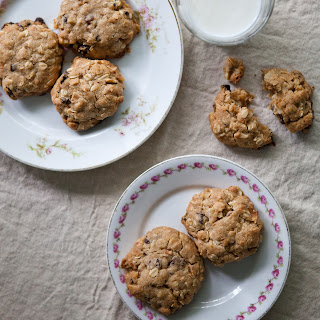 Coconut Oatmeal Cookies with Dried Cherries