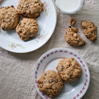 Coconut Oatmeal Cookies with Dried Cherries.