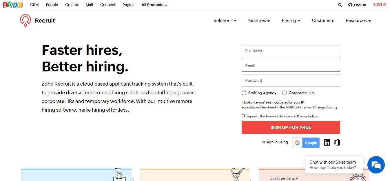 Cloud Based Recruitment Software - Zoho