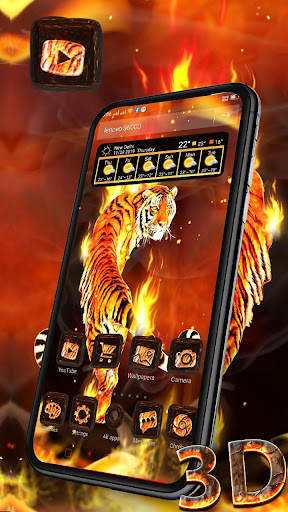 Download Fire Lion 3D Glass Tech Theme ud83dudd25ud83dudc06 1.1.1 2