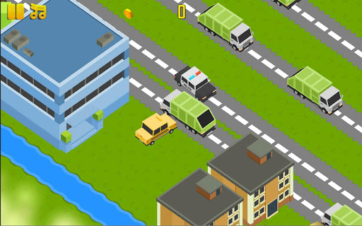 Blocky Town Traffic Cross