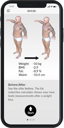 BMI 3D - Body Mass Index and body fat in 3D 5.6 Screenshots 2