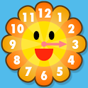 Sunflower clock icon