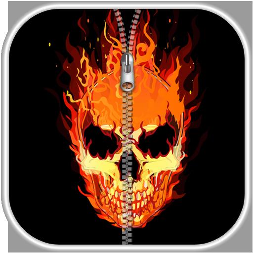 骷髏拉鍊鎖屏 娛樂 App LOGO-硬是要APP