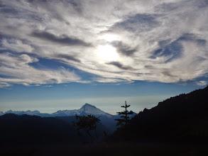Photo: Swirling clouds above Sloan Peak