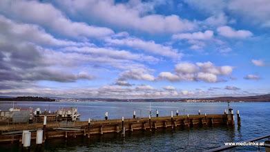 Photo: der tag wird schön - in konstanz sind noch kleine hochnebelwolken
