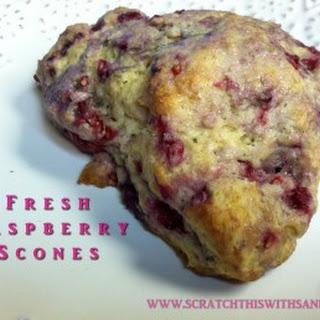 Fresh Raspberry Scones.