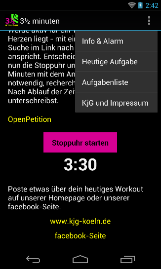 3½ minuten – Screenshot