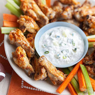 Buffalo Chicken Wings with Blue Cheese Dressing - BHG - Healthy.