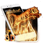 3D Vitality Fire Tiger Theme Icon