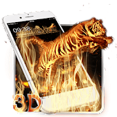 3D Vitality Fire Tiger Theme