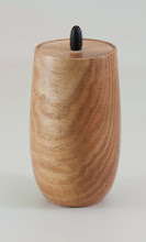 "Photo: Clif Poodry 5"" x 2 1/2""  lidded vessel [honey locust]"