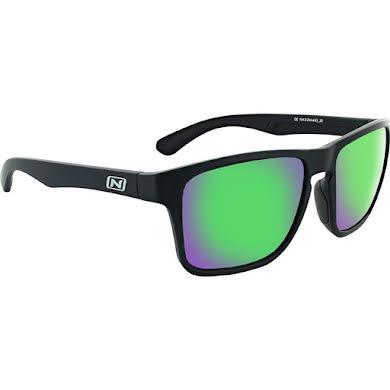 Optic Nerve Rumble Sunglasses - Matte Black, Polarized Smoke Lens with Green Mirror