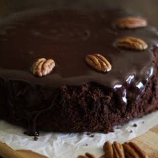 Gluten-Free Chocolate Cake with Coconut-Chocolate Ganache (almost Paleo) {Guest Post by The Roasted Root}.