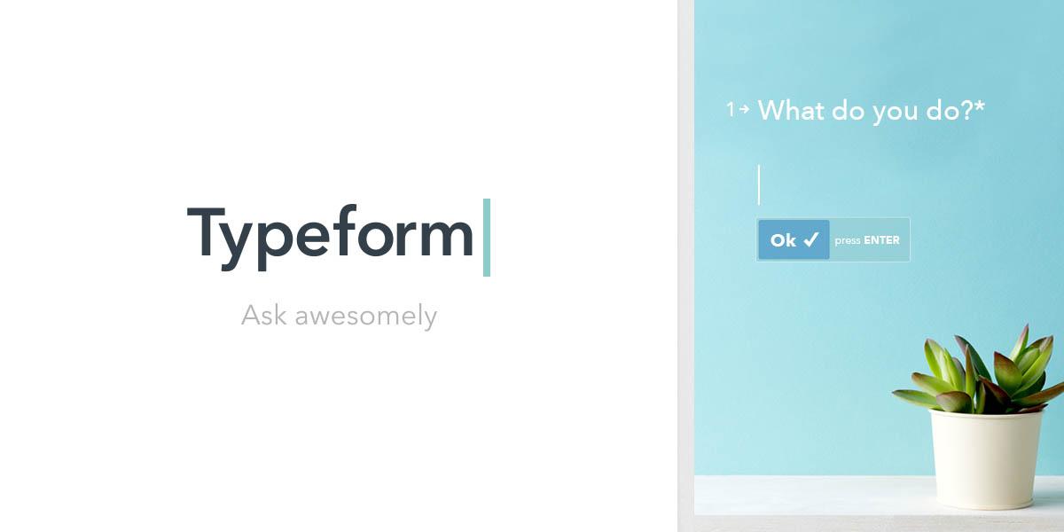 typeform survey tools