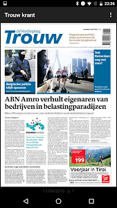 Trouw digitale krant screenshot 0