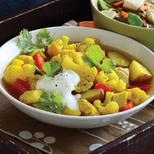 Curried Chicken & Cauliflower Soup Recipe