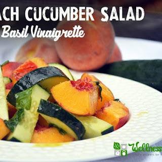 Peach Cucumber Salad with Basil Vinaigrette