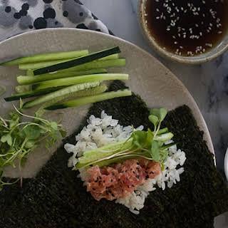 Spicy Tuna Hand Roll.