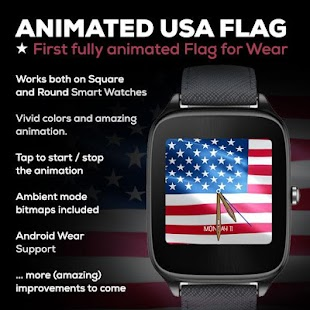 Animated USA Flag Watch Face- screenshot thumbnail
