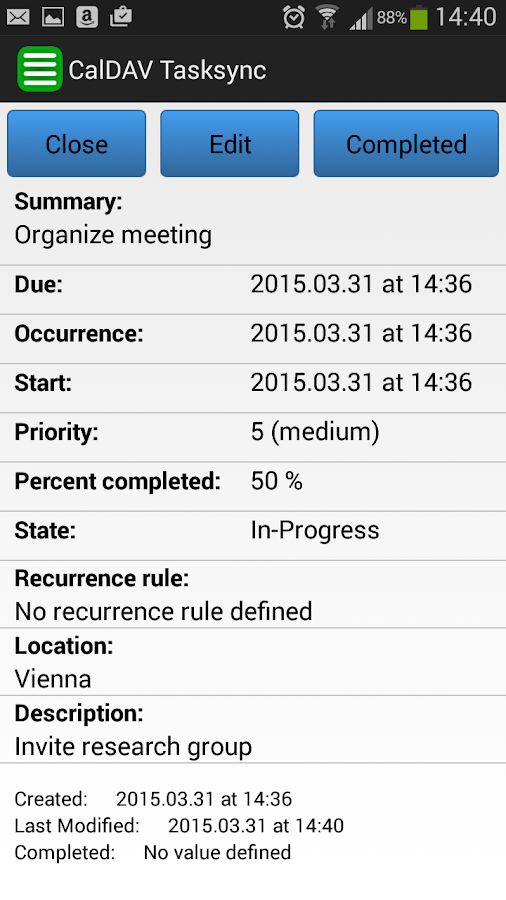 CalDAV TaskSync beta- screenshot