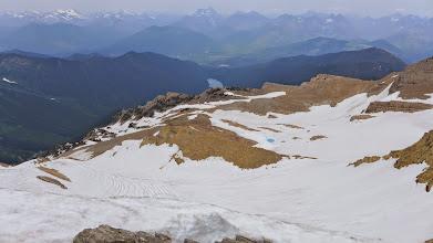 Photo: Looking down at Stanton Glacier - Glacier Park in the distance