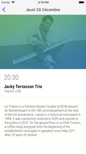 Agenda Jazz Paris 2.0.0 screenshots 3
