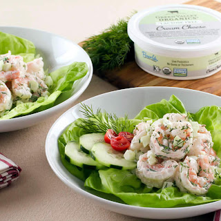 Shrimp Salad with Cucumber and Dill.