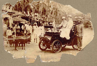 Photo: The first recorded date of a car being in regular use in Madras is 1901. The car was owned by A J Yorke (as seen in Photograph : Photo courtesy : Bunty - Great gandson of Mr.Yorke), a director of Parry & Co. He drove it daily from Ben's Gardens, Adyar, to Parry's in 'Black Town'.