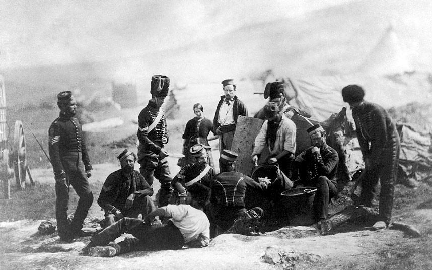 Лагерь 4-го драгунского полка британской армии, принимавшего участие в легендарной атаке легкой кавалерии / DR