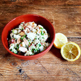 Tabbouleh with Feta Cheese and Roast Almonds.