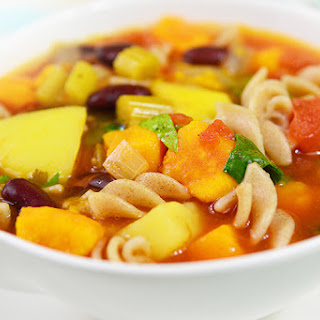 Slow Cooker Root Vegetable Minestrone Stew.