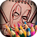 Sketch It Up! Coloring Book for Deadpool