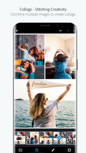 Adobe Photoshop Express:Photo Editor Collage Maker screenshot 1