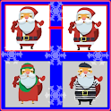 Merry Christmas: memory card game with Santa Claus icon