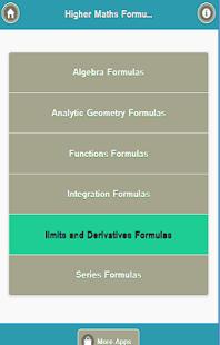 Higher maths Formulas - náhled