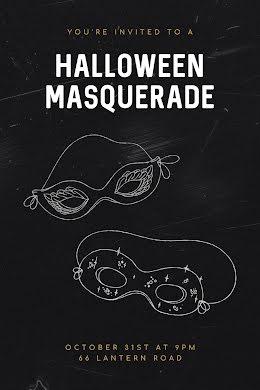 Halloween Masquerade - Postcard item