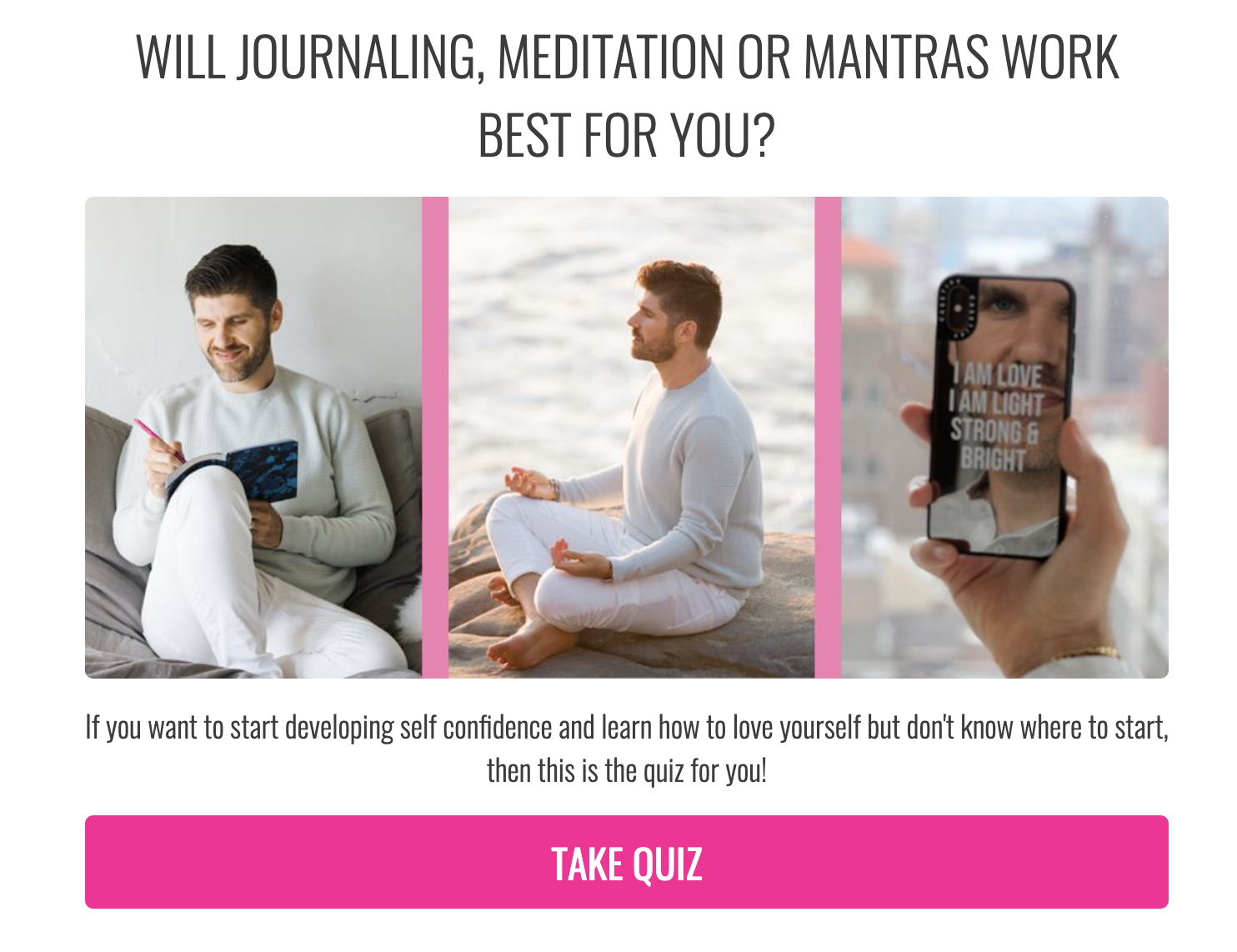 will journaling meditation or mantras work best for you quiz cover