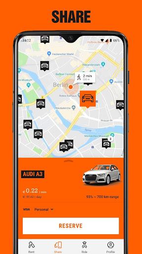 SIXT: Car rental, Carsharing & Taxi  screenshots 3