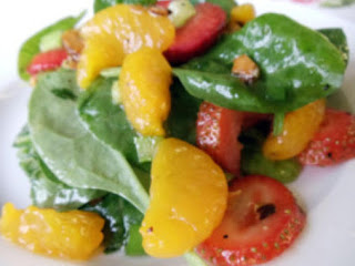 Mandarin Orange/strawberry Spinach Salad Recipe