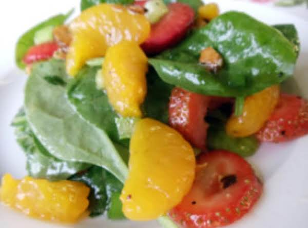 Mandarin Orange-strawberry Spinach Salad