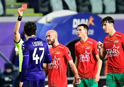 Lucas Lissens moet twee wedstrijden brommen na zijn rode kaart